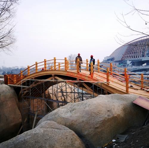 延庆胶合木桥梁